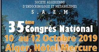 35éme Congrès annuel SAEM-10/10/2019 au 12/10/2019, à l'Hôtel Mercure à Alger