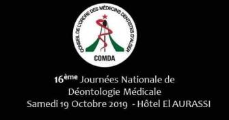 16eme journée nationale de la déontologie Médicale-19 octobre 2019-Alger
