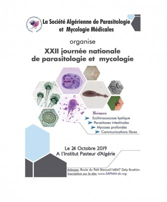 22ème Journée Nationale de parasitologie et mycologie - 24 Octobre 2019 à Alger