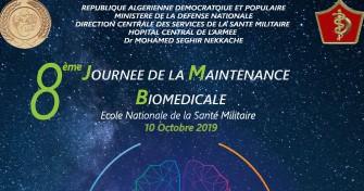 08 ème Journée de la Maintenance Biomédicale- 10 Octobre 2019- Ecole Nationale de la Santé Militaire