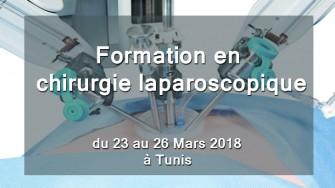 Formation en chirurgie laparoscopique, 23 au 26 Mars 2018 à Tunis