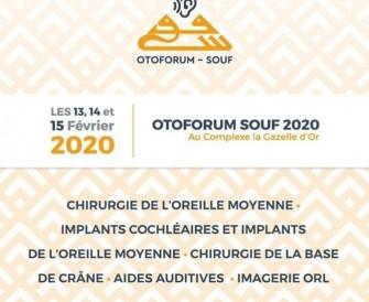 La deuxième Edition des journées internationales d'Otologie, d'implantologie et de l'oto-neurochirurgie de souf- Les 13, 14,15 février 2020-  Souf