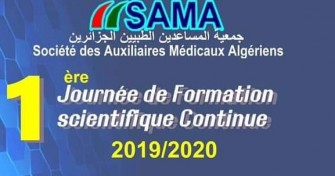 1ère Journée de Formation scientifique Continue 2019 /2020- 26 octobre 2019, Alger.