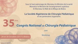 35ème congrès national de chirurgie pédiatrique