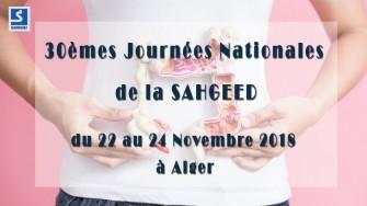 30èmes Journées Nationales de la SAHGEED - 22 au 24 Novembre 2018 à Alger