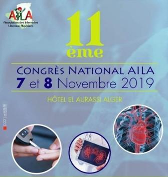 11ème Congrès National- (AILA) Les 07 et 08 Novembre 2019, Alger