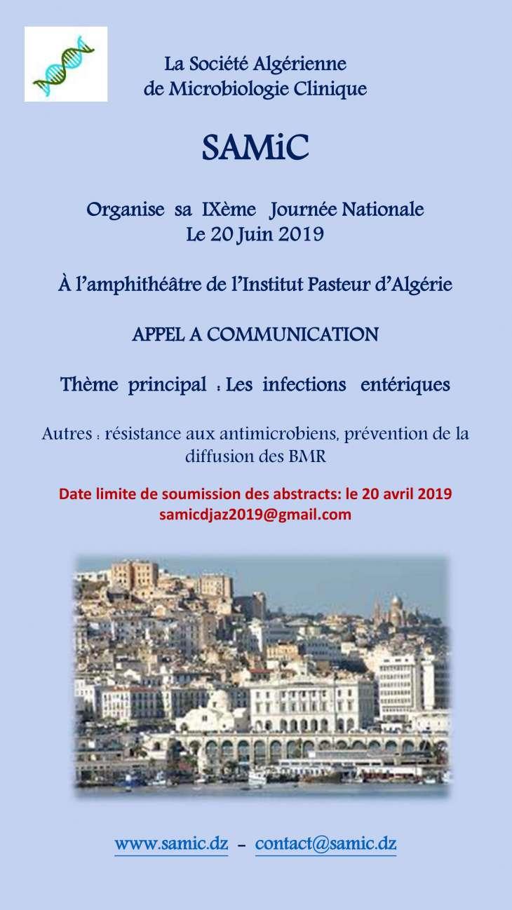 9ème Journée Nationale de la SAMIC - 20 Juin 2019 à Alger