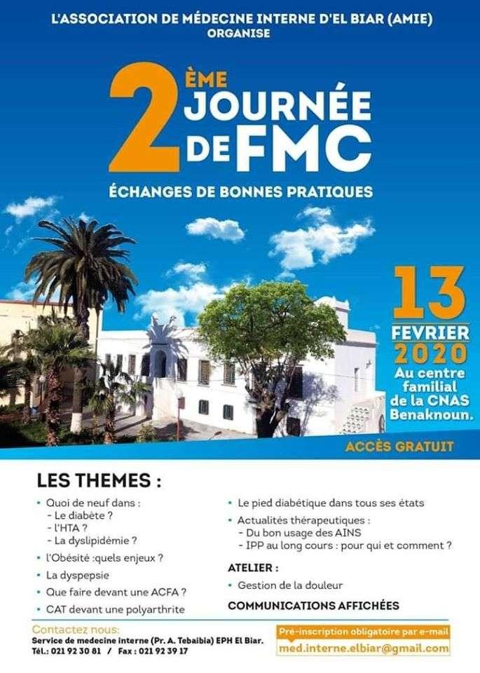 Deuxième Journée De FMC- Association De Médecine Interne-13 Février 2020–Alger-