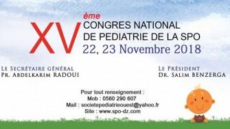 15ème Congrès National de la Pédiatrie de la SPO - 22 et 23 Novembre 2018