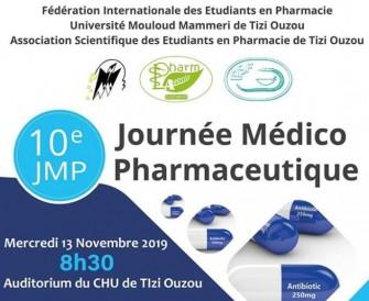 La dixième journée médico pharmaceutique-Le 13 novembre 2019- CHU de Tizi-Ouzou.