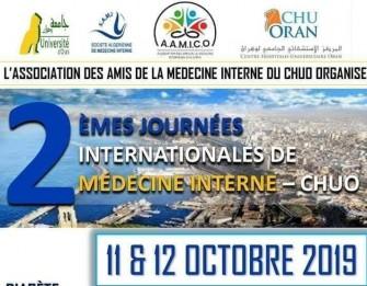 2ème Journées Internationales De Médecine Interne Du Chu Oran- Les 11.12 octobre 2019 à l'Hôtel Phœnix, Oran