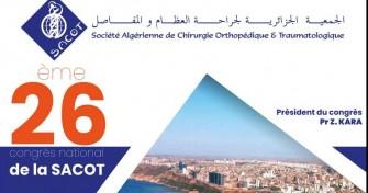 26ème congrès national de la SACOT-29/11/2019 au 01/12/2019 à Sheraton, Oran