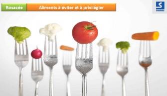 Rosacée: Aliments/ suppléments alimentaire  à éviter et à privilégier