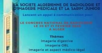 Le congrès national de radiologie- les 20 et 21 février 2020 à ALGER.