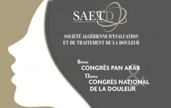 6ème congrès Pan Arabe de la douleur et 13ème congrès national de la SAETD - 23 au 24 Novembre 2018 à Alger