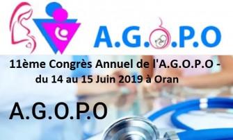 11ème Congrès Annuel de lA.G.O.P.O - 14 au 15 Juin 2019 à Oran