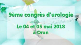 9ème congrès durologie - 04 et 05 mai 2018 à Oran