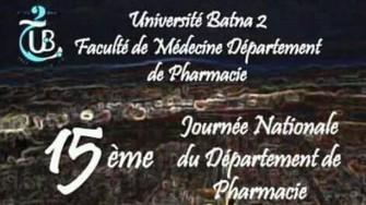 15ème journée nationale du département de pharmacie - 16 et 17 Mars 2018 à Batna
