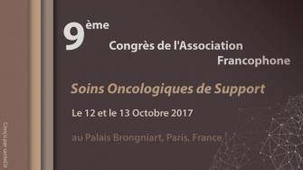 9ème congrès de lAssociation Francophone pour les Soins Oncologiques de Support