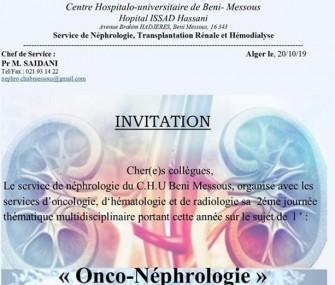 2ème Journée dOnco-Néphrologie- le 03/11/2019-CHU Beni Messous
