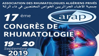17ème congrès de Rhumatologie (ARAP) - 19 et 20 septembre 2019 à Annaba