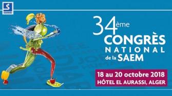 34ème congrès national de la SAEM - 18 au 20 Octobre 2018 à Alger