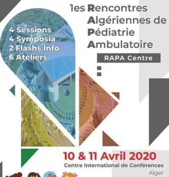 Premières rencontres Algérienne de Pédiatrie Ambulatoire Rapa-10 et 11 avril 2020-CIC-