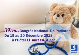 39ème Congrès National de Pédiatrie - 19 au 20 Décembre 2018 à Alger