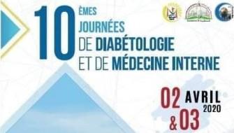 10 émes journées de diabétologie et de médecine interne- Les 2 et 3 avril 2020, Constantine