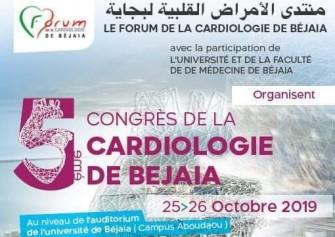 5ème congrès national du Forum de la Cardiologie de Bejaia. Les  25 et 26 Octobre 2019, Bejaia